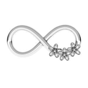 Zawieszka łącznik - znak nieskończoności - kwiatek niezapominajka*srebro AG 925*ODL-00153 7,7x16 mm (1088 PP 18)