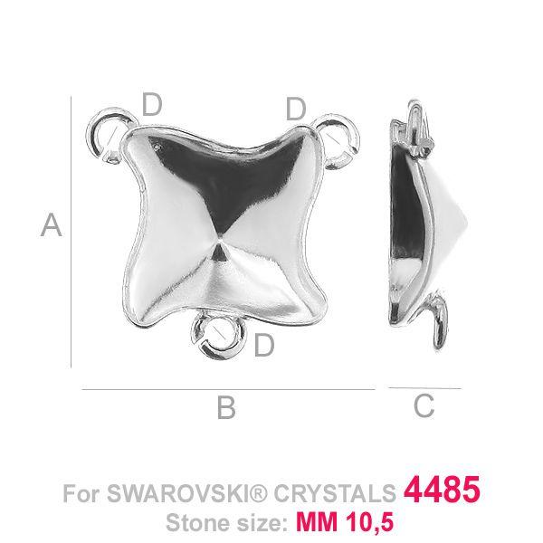 Kaboszon łącznik Twister fancy - OKSV 4485 MM 10,5 - CON 3 ver.A