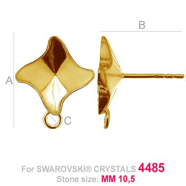 Kolczyki sztyft z kółkiem Twister fancy - OKSV 4485 MM 10,5 - KLS CON1 ver.B