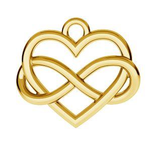 Znak nieskończoności w sercu zawieszka - ODL-00168