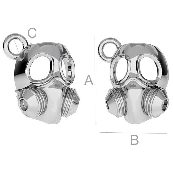 Maska przeciwgazowa zawieszka - ODL-00172
