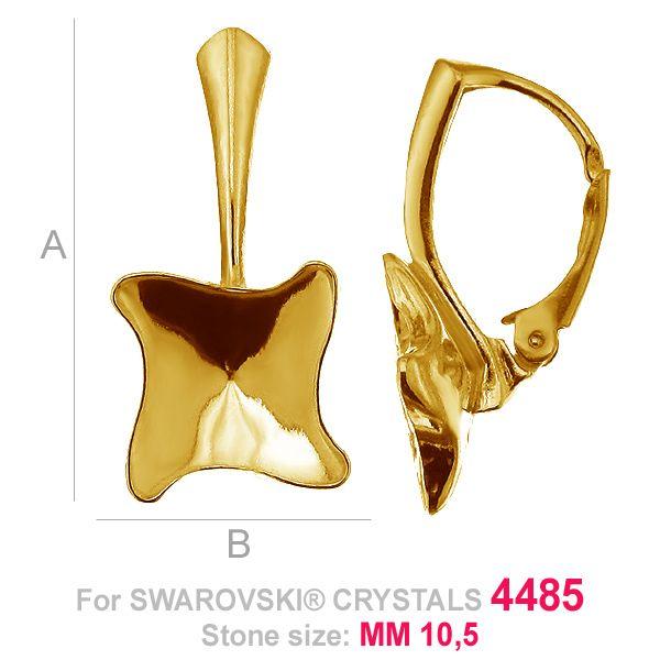 Kolczyki bigiel Twister fancy - OKSV 4485 MM 10,5 - BA ver.A
