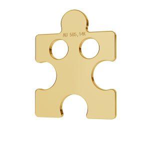 Puzel blaszka celebrytka złoto 14K LKZ-00003 - 0,30 mm