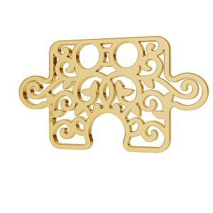 Ażurowy puzel blaszka celebrytka złoto 14K LKZ-00005 - 0,30 mm