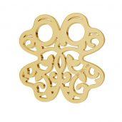 Ażurowa koniczyna blaszka celebrytka złoto 14K LKZ-00006 - 0,30 mm