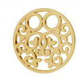 Ażurowa okrągła blaszka celebrytka złoto 14K LKZ-00007 - 0,30 mm
