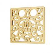 Ażurowy kwadrat blaszka celebrytka złoto 14K LKZ-00009 - 0,30 mm