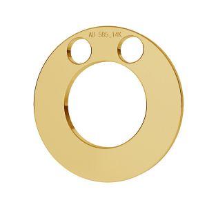 Obręcz blaszka celebrytka złoto 14K LKZ-00010 - 0,30 mm