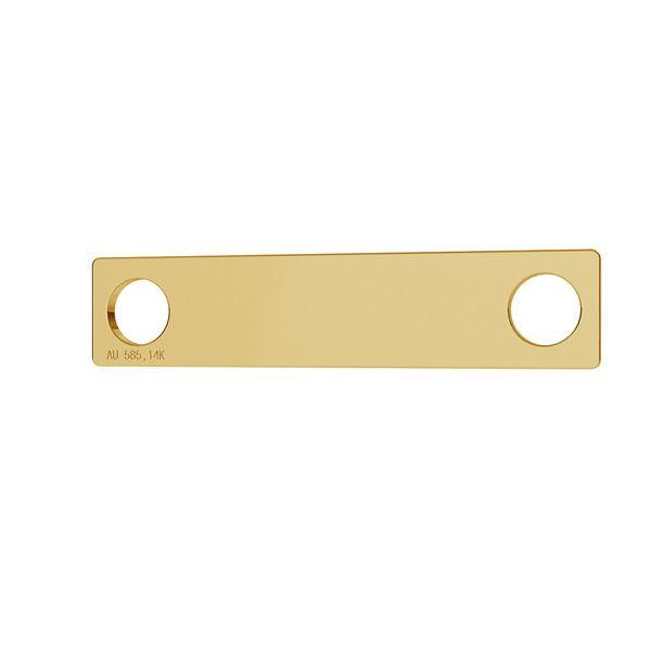 Prostokat blaszka celebrytka złoto 14K LKZ-00018 - 0,30 mm