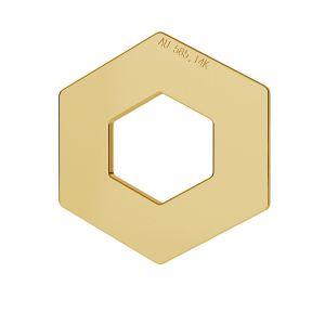 Pięciokąt blaszka celebrytka złoto 14K LKZ-00020 - 0,30 mm