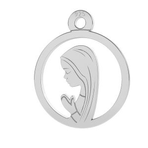 Srebrny medalik Matka Boska Fatimska, srebro próby 925, LK-0661 - 0,50