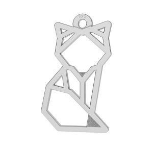 Zawieszka ażurowa - lis origami*srebro AG 925*LK-0649 - 0,50 10x17 mm
