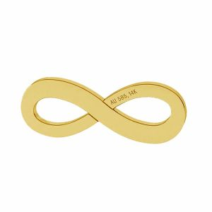 Znak nieskończoności zawieszka złoto 14K LKZ-00325 - 0,30 mm
