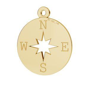 Kompas róża wiatrów zawieszka złoto 14K LKZ-00380 - 0,30 mm