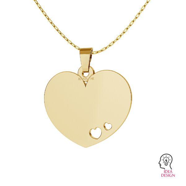 Serce blaszka złoto 14K LKZ-00546 - 0,30 mm