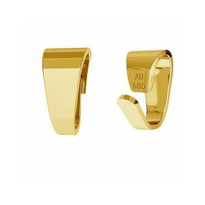 Złoty prosty krawat zaciskany do podwieszania*złoto AU 585*KR LKZ-00027 - 0,30 2,5x5 mm