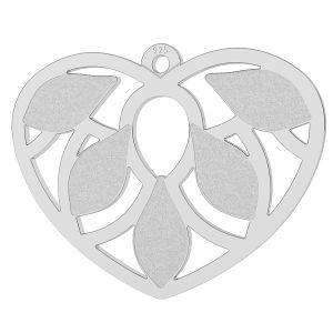Serce z listkami zawieszka (2205 MM 7,5) LK-0680 - 0,50