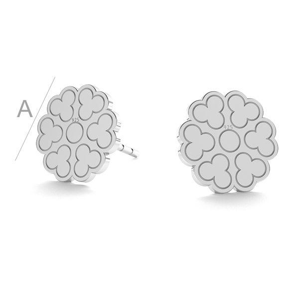 Ozdobna rozeta kolczyki sztyft LK-0670 KLS - 0,50