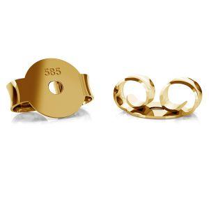 Złote zapięcie do kolczyków typu baranek BARZ 1 - AU 585,14K