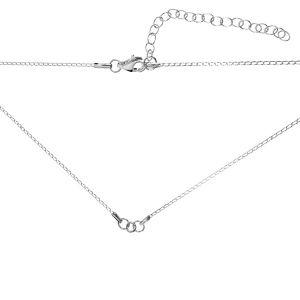 Baza łańcuszkowa typu Pancerka 2-elementowa z przedłużką*srebro AG 925*CHAIN 9 (PD 40 20+20 cm) 41 cm