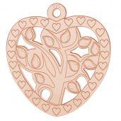 Serce drzewko szczęścia, życia zawieszka, LK-0778 - 0,50