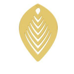 Zawieszka - liść*srebro AG 925*LK-0789 - 0,50 10,6x15,7 mm