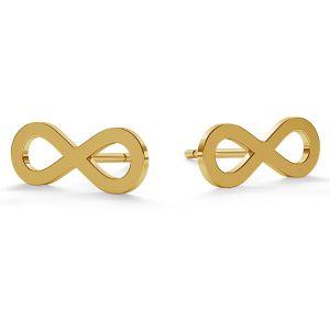Znak nieskończoności kolczyki sztyft złoto 14K LKZ-00589 KLS - 0,30 mm