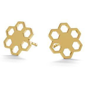 Kwiatki kolczyki sztyft złoto 14K LKZ-00668 KLS - 0,30 mm