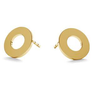 Oponki, okrągłe kolczyki sztyft złoto 14K LKZ-00671 KLS - 0,30 mm