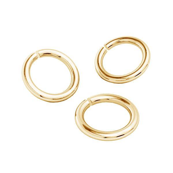 Złote kółko cięte*złoto AU 585*KC 0,8x2,15 mm
