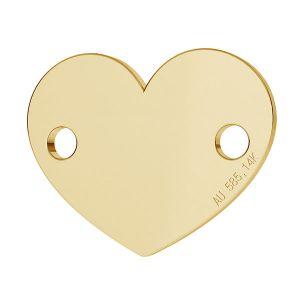Serce blaszka złoto 14K LKZ-00462 - 0,30 mm