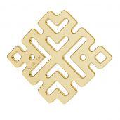 Grwcki wzór blaszka złoto 14K LKZ-00188 - 0,30 mm