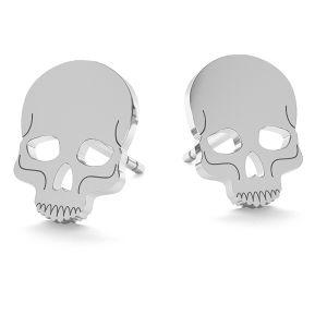 Czaszka halloween kolczyki, LK-1023 - 0,50
