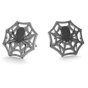 Pająk halloween kolczyki, LK-1029 - 0,50