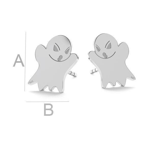 Duch halloween kolczyki, LK-1015 - 0,50