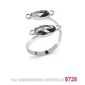 Podwójny pierścionek Swarovski Skarabeusz 12mm S-RING 015 (5728 MM 12)