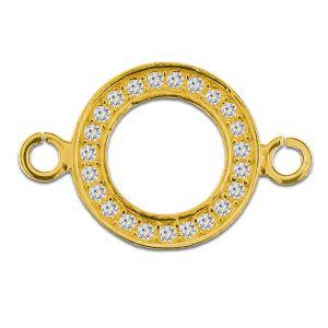 Karma okrągła zawieszka z kryształami S-CHARM 0105 ver.2 CON 2