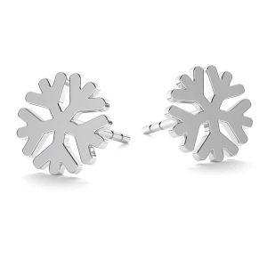 Kolczyk sztyft - płatek śniegu*srebro AG 925*KLS LK-1074 - 0,50 8x8 mm