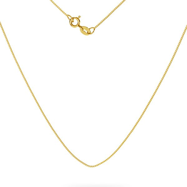 Kostka złoty łańcuszek do celebrytek 14K - SG-KV 012 4L AU 585