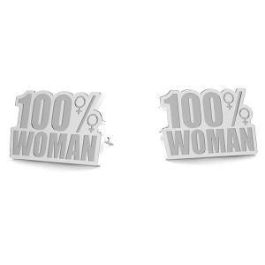 100% Woman kolczyki LK-1189- 0,50 - KLS