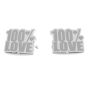 100% Love kolczyki LK-1193 - 0,50 - KLS