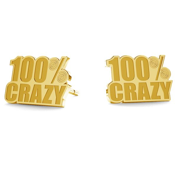 100% Crazy kolczyki LK-1194 - 0,50 - KLS