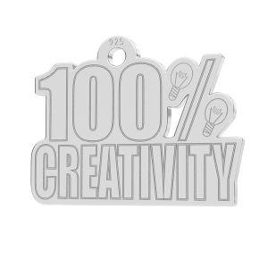 100% Creativity , zawieszka z grawerem, LK-1184 - 0,50