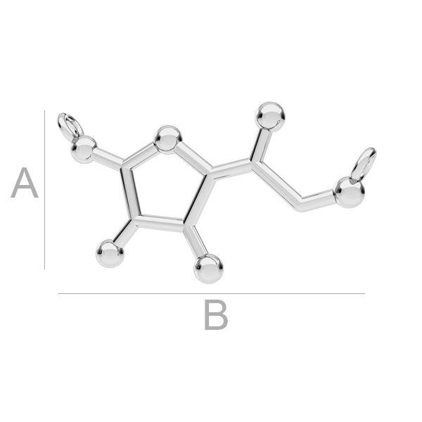 Witamina C wzór chemiczny zawieszka ODL-00284
