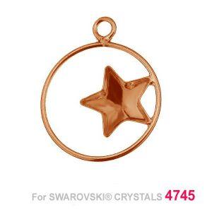 Gwiazda 10mm w kółku baza Swarovski SKSV 4745 MM 10 CON1 KCL 0,9x2,0