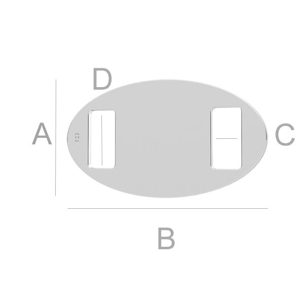 Owalna zawieszka, łącznik - LK-1266 - 0,50