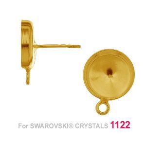 Kolczyk baza do kamieni Rivoli 12mm OKSV 1122 12 MM KLSG CON 1H ver. 5