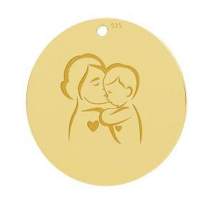 Matka i dziecko, okrągła zawieszka, LK-1281 - 0,50