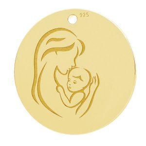 Matka i dziecko, okrągła zawieszka, LK-1290 - 0,50