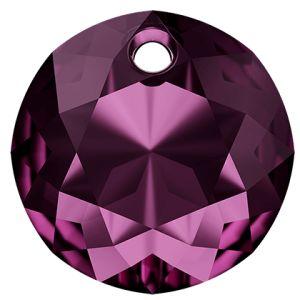 Zawieszka okrągła, Classic Cut Pendant, Swarovski Crystals,6430 MM 8,0 AMETHYST